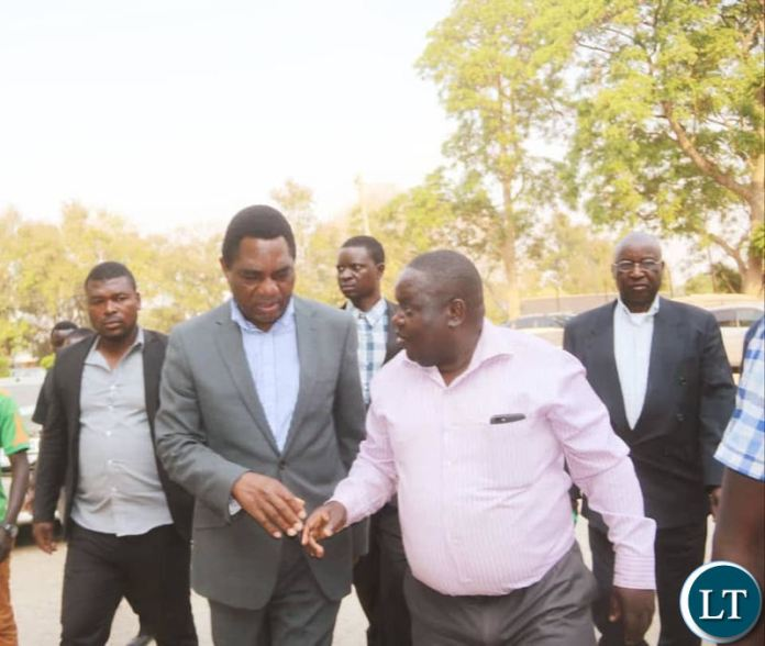 HH arriving at Lusaka Central Prison to visit Dr Kambwili