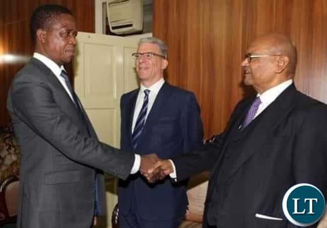 President Lungu meeting the owners of KCM