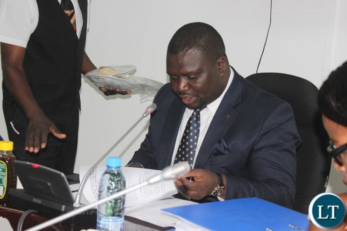 Hon. Rapheal Nakachinda chairing a sitting of the parliamentary select committee on the Constitutional Amendment Bill.