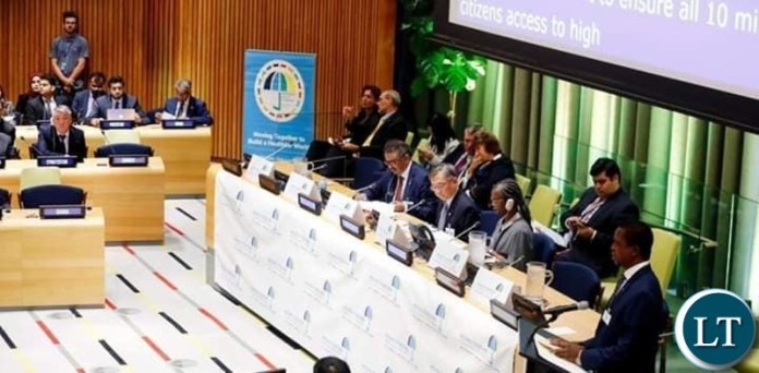 President Edgar Chagwa Lungu in New York, USA joined several Heads of State, political and health leaders