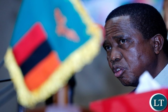 President Edgar Chagwa Lungu speaks during the official opening of National Assembly at Parliament Building in Lusaka on Friday,September 13,2019.
