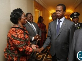 President Lungu Arrives in New York and Being Welcomed by Lands Minister jean Kapata