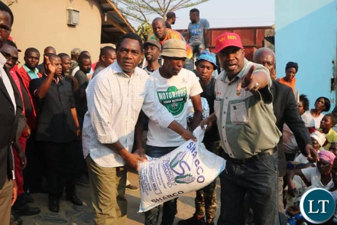 HH donates mealie to the poor in Bauleni