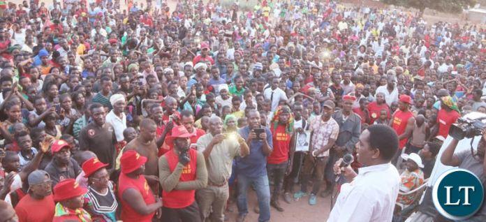 HH addressing Kaoma residents on Monday