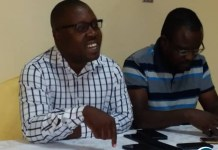 YALI President Andrew Ntewewe at a media briefing