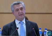 The UN High Commissioner for Refugees, Mr Filippo Grandi,