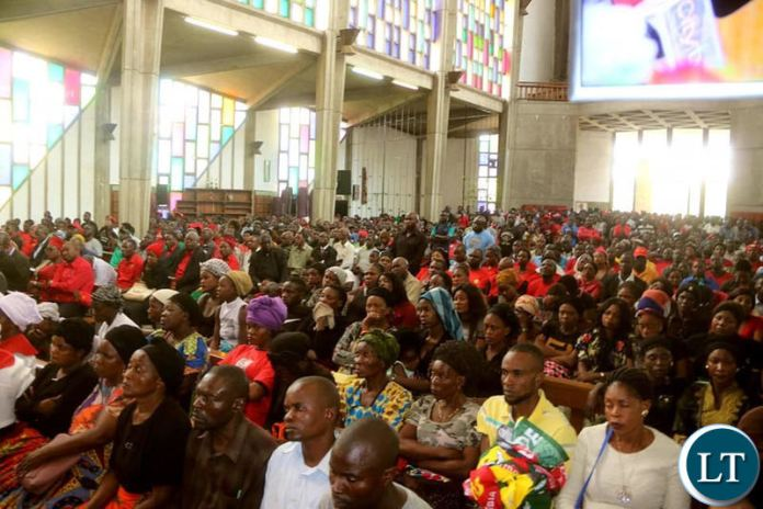 The funeral service at the Cathedral of the Holy Cross of the murdered UNPD Cadre
