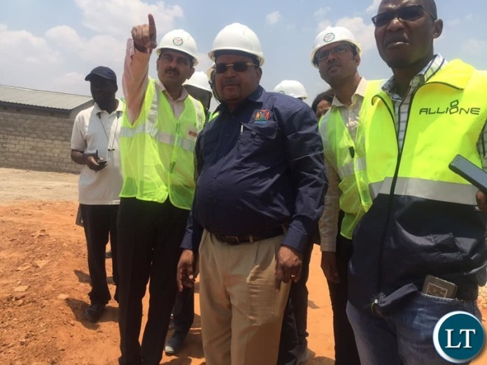 Dr. Chomba inspecting Road works in Lusaka