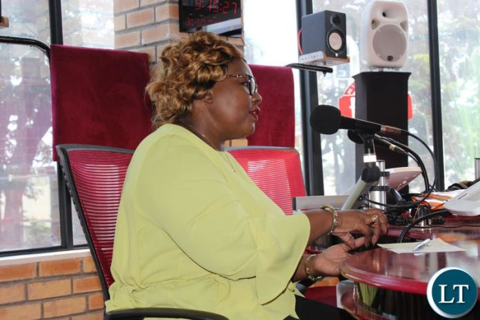 Information and Broadcasting Minister Dora Siliya featuring on Hot FM's HotSeat radio programme