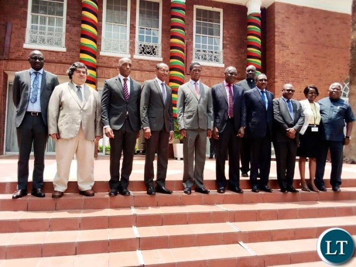 President Lungu with the IMF Delegation at State House