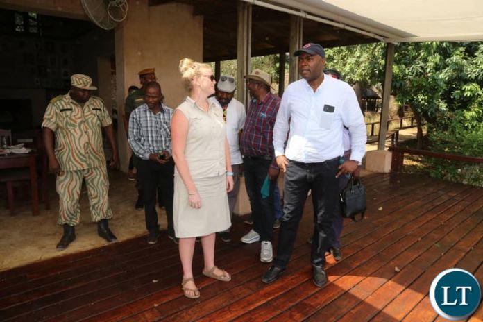 Lusaka Province Minister Bowman Lusambo in the Lower Zambezi