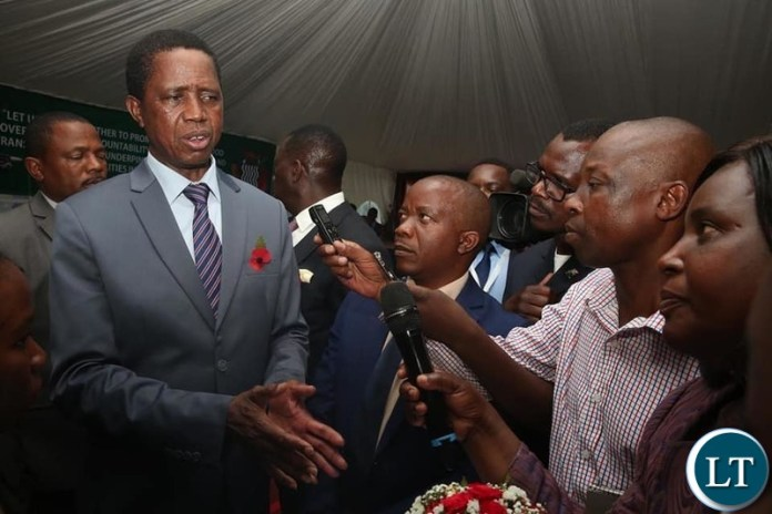 President Lungu Speaking to the media