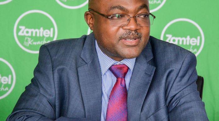 Zamtel Head of Corporate Affairs and Government Relations Reuben Kamanga