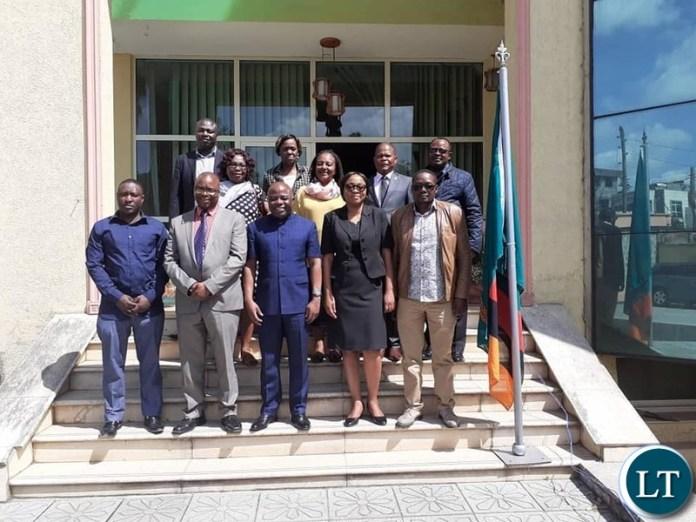 Home Affairs Minister Hon. Stephen Kampyongo with Diplomats in Ethiopia