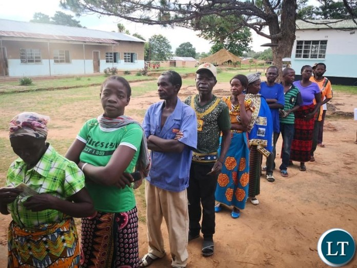 Milenge Primary School polling station.