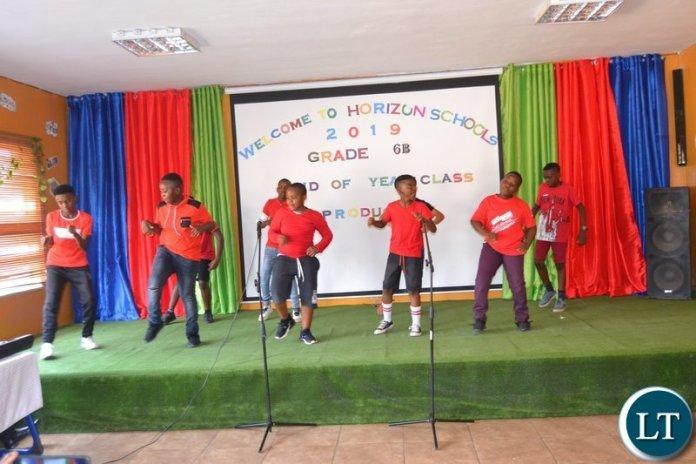 Horizon School Pupils celebrating end of year function