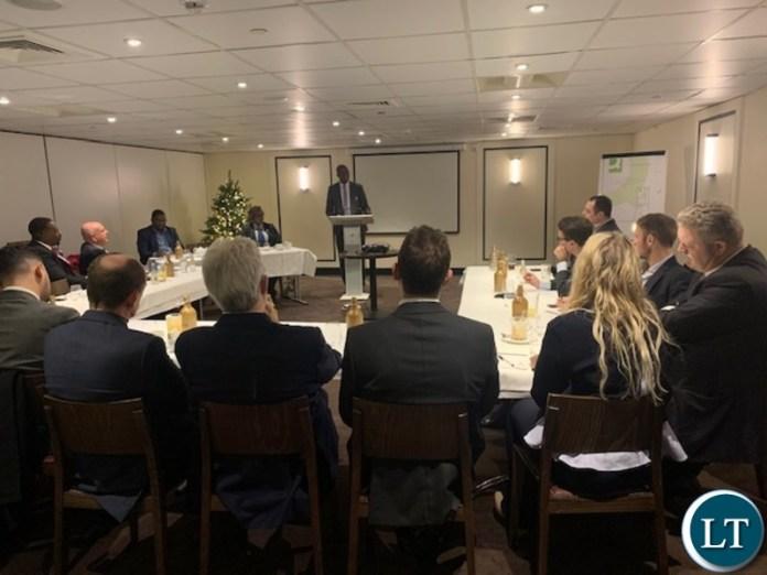 Mines meeting addressing UK investors