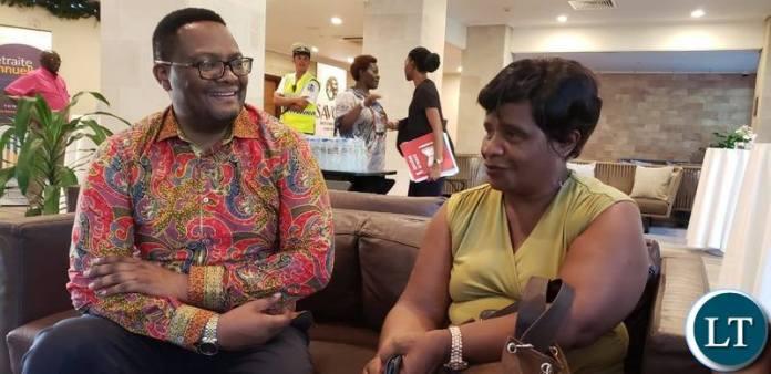 Mr Mwamba meeting Zambian teachers deployed to Seychelles,