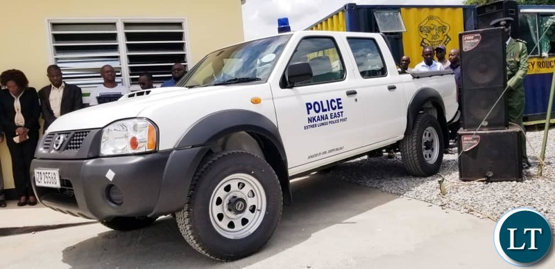 The handing over of another $36,000 brand new Nissan Hard body 4×4 Motor Vehicle to the modern Esther Lungu Police Post.