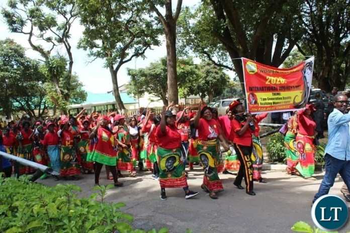 UPND Women at the celebrations for International Women's Day