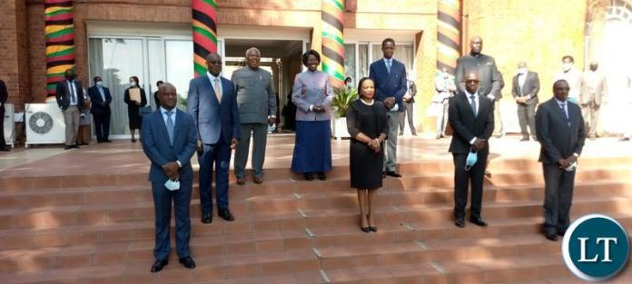 The Swearing Ceremony of Mr. Chibwe Mulonda as Controller Internal Audit at Ministry of Finance and Ms Clare Mwamba Mubanga Mazimba as Deputy Auditor General in Charge of Corporate Services at State House