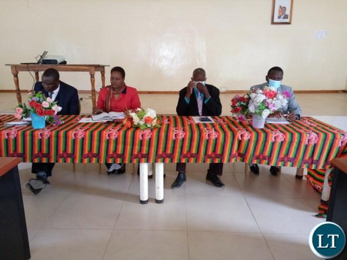 Left-Right Benson Bweenje, Namukolo Kalufyanya, Justus Phiri and Cyprian Hamayanga.