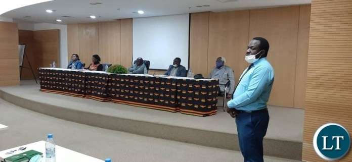 Minister of Toursim and Arts, Zambia meeting the Artists in Lusaka