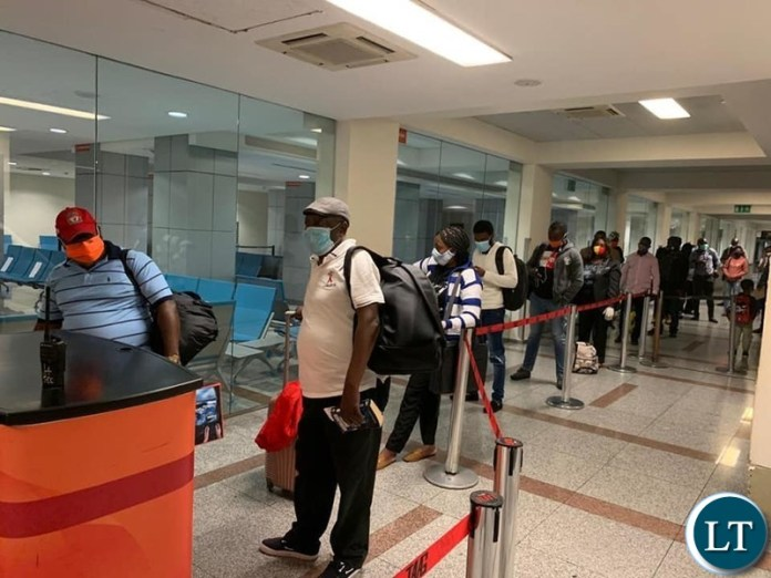 Zambian nationals being repatriated back from Angola