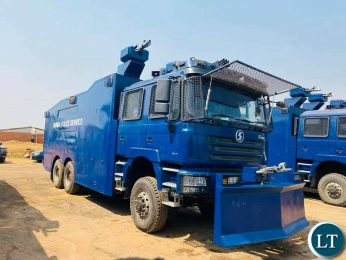 Some of the Armoured Vehicles handed over to Zambia Police