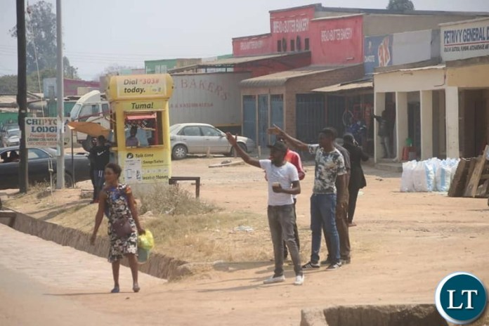 UPND Supporters Welcoming HH