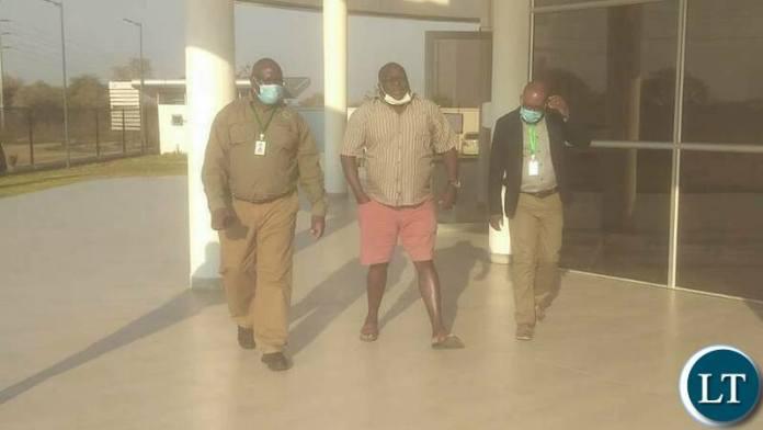 Kambwili paying an unannounced Visit at Medical Stores