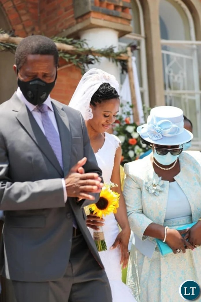 President Lungu and family with the new Son in Law Patrick Mwansa