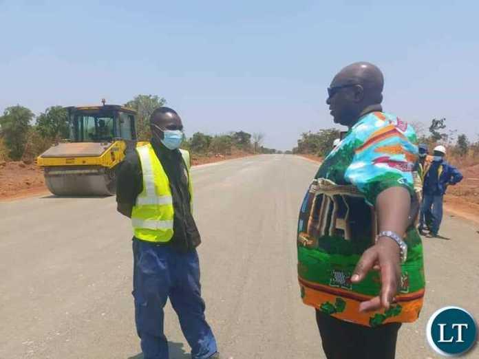 Kantanshi MP Dr. Anthony Mumba checks on works on Mufulira- Mokambo Road which are progressing well