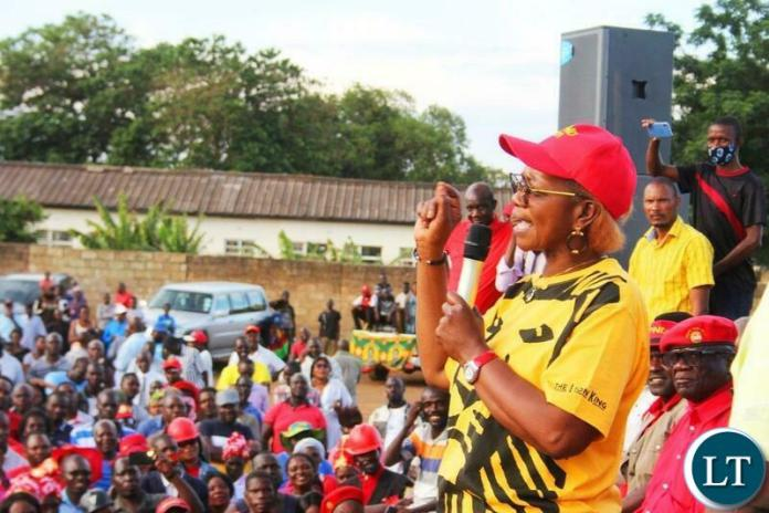 Silver Masebo addressing UPND Supporters at the Mobilisation rally in Lusaka