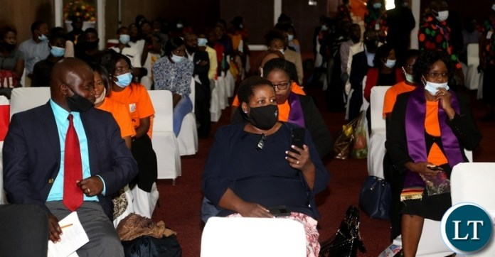 Christians from different churches following the proceedings during the commemoration of the declaration of Zambia as a Christian Nation at mulungushi international conference centre yesterday. Tuesday, December 29, 2020. Picture by ROYD SIBAJENE/ZANIS