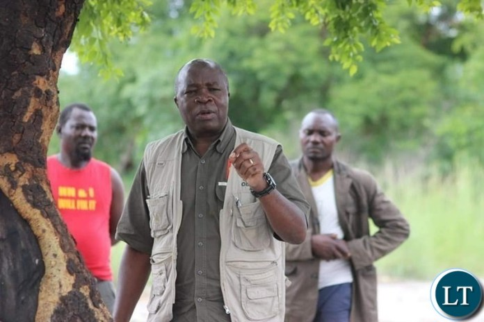 Former Minister of Finance Situmbeko Musokotwane campaining for UPND Candidate candidate Erick Nalishebo for Ward Elections