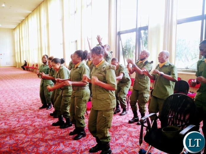 The defence Service Choir sing during the launch of an Empowerment Scheme for Churches,Religious and Faith Based organisations at Government Complex
