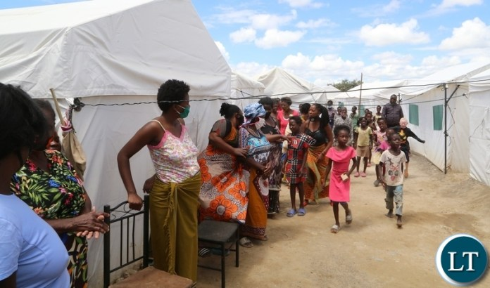 Relocated Kuku compound flood Victims at the new place on the up land near Kafue road