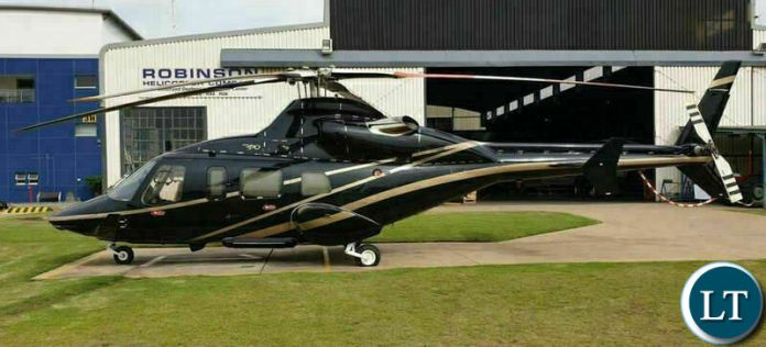 Foreign Affairs Minister Joseph Malanji's Bell 430 Helicopter