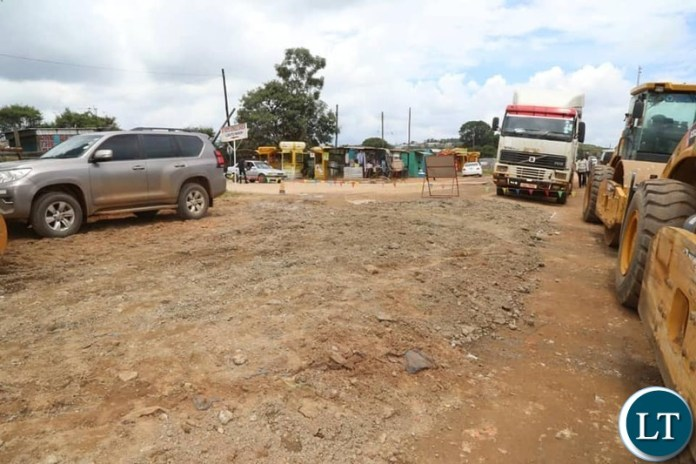 Bowman Lusambo commissions ?the construction of Township roads in Six (6) districts on the Copperbelt province