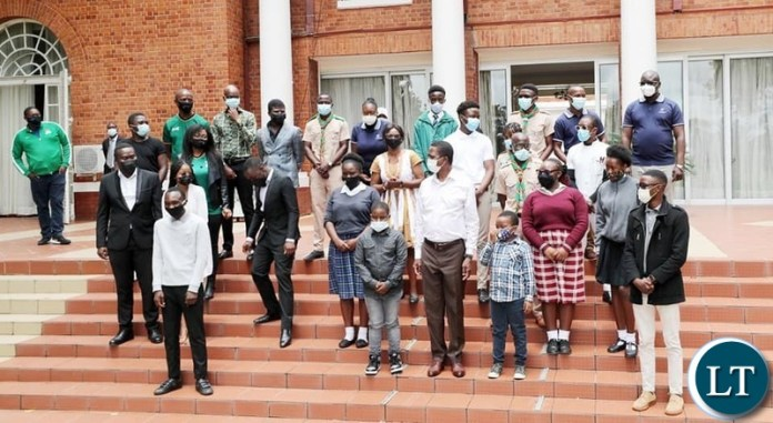 President Lungu Hosting Youths at State House