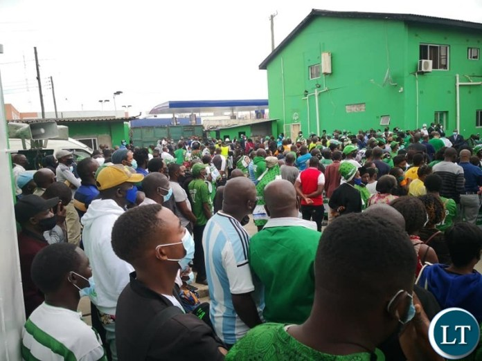 PF cadres turn up in large numbers to see President Lungu file in his nomination papers for the Party Presidency