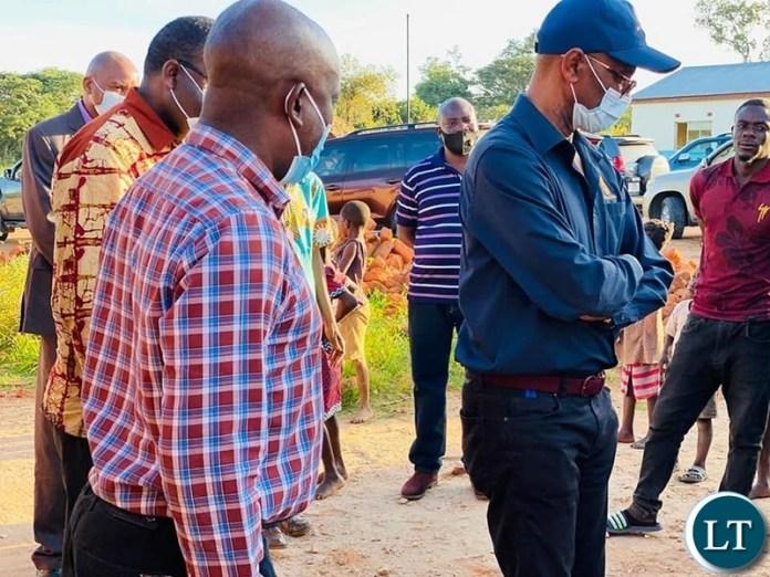 BOZ Governor Christopher Mvunga touring the Tea Plantation in Kawambwa