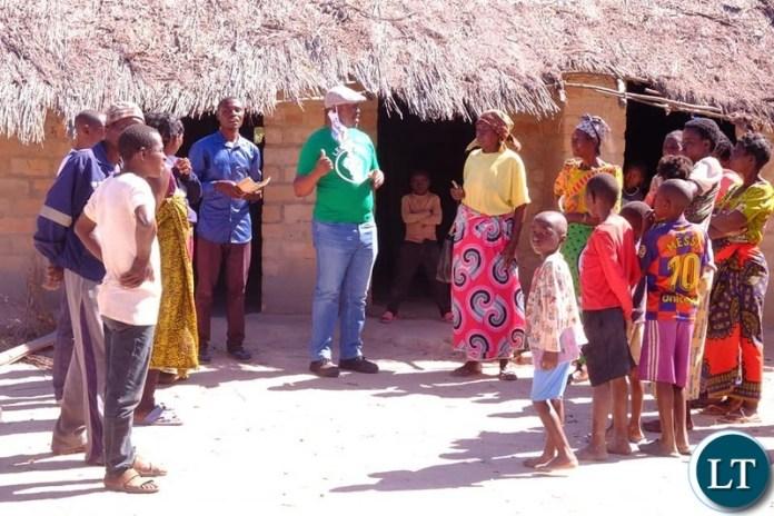 Sunday Chanda on Campaign Trail in Kanchibiya Constituency