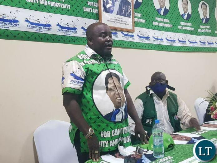 Ronald Chitotela PF address PF members in Luapula