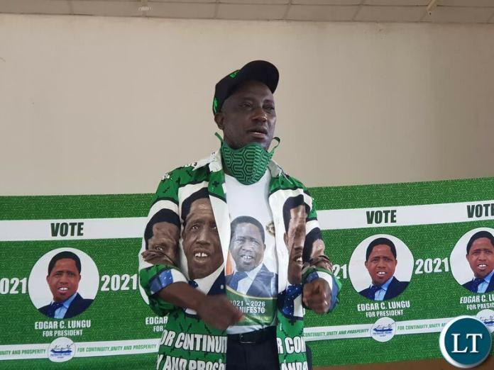 Kawambwa Parliamentary candidate Nickson Chilangwa MCC