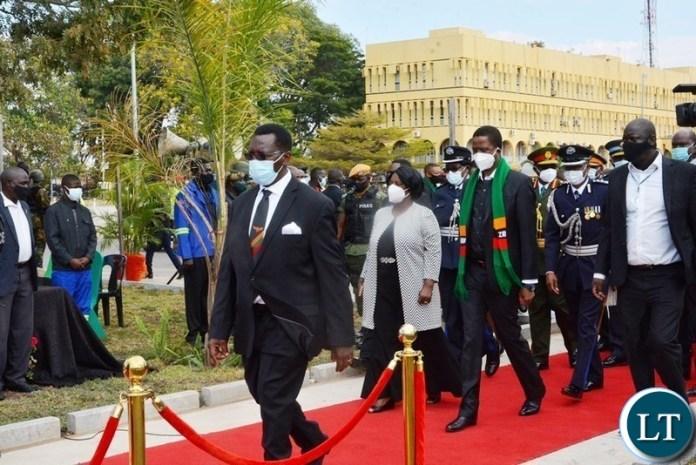 President Lungu and First lady Esther Lungu
