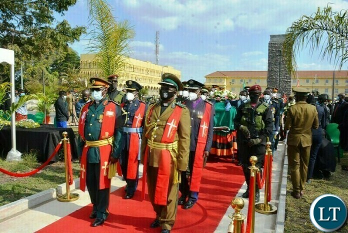 The arrival of the body of the late President Dr Kenneth Kaunda for Burial