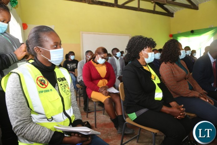 Zambia Civil Servant Initiative (ZACIA) during the meeting with the Vice President Inonge Wina at twikatane primary School in Luano District