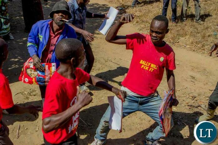 UPND Cadres on Campaign Trail